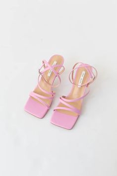 Strappy sandals Vegan leather True to size heels Shoes Flats Sandals, Pink Sandals, Flat Sandals, Fancy Shoes, Cute Shoes, Girls Formal Shoes, Wedding Shoes Bride, Aesthetic Shoes, Dream Shoes