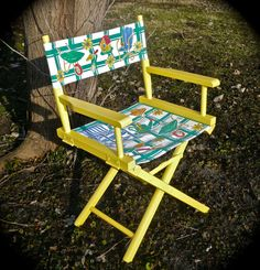Folding Chair Directors Chair Bright Colors by CasaKarmaDecor, $55.00