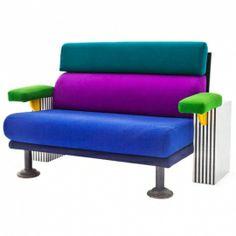 Muebles extravagantes 80s Furniture, Unique Furniture, Furniture Design, Memphis Furniture, Sofa Chair, Couch, Pop Art, Memphis Milano, Memphis Pattern