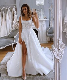 Marie at her final fitting in custom Pallas Haute Couture. More of this beautiful bride coming soon🖤 Best Wedding Dresses, Bridal Dresses, Wedding Gowns, Prom Dresses, Boho Wedding, Corset Wedding Dresses, Tulle Wedding, 2 In 1 Wedding Dress, Ball Dresses