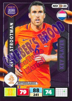 NED05. Kevin Strootman (Netherlands) - Key Player Panini Road to 2018 FIFA World Cup Russia Adrenalyn XL