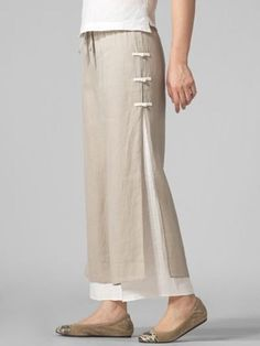 How cute are these? Casual Stylish Plus Size Pants Fashion Pants, Look Fashion, Womens Fashion, Fashion Design, Unique Fashion, Fashion Styles, Cotton Pants, Linen Pants, Stylish Plus