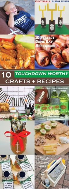 10 Touchdown Worthy Crafts + Recipes for your next football game!
