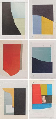 suzanne caporael, color paper collages, Enough is Plenty, Ameringer McEnery Yohe Gallery