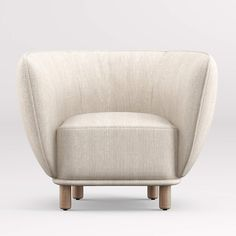 Maar High-Backed Chair + Reviews | Crate and Barrel Corner Furniture, Unique Furniture, White Accent Chair, Accent Chairs, Chair And Ottoman, Swivel Chair, Fancy Chair, High Back Chairs, Side Chairs