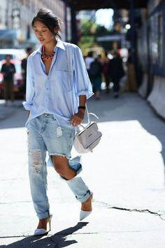 Street Style Trends-by Sheisrebel.com #sheisrebel #streetstyle #stripedshirt