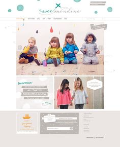 Wee Mondine Shopify website design by Aeolidia.