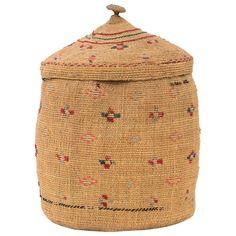 Native American Lidded Basket, Tlingit 'Pacific Northwest Coast,' circa 1900 1