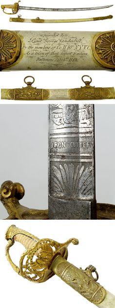 CIVIL WAR 10TH NY CAVALRY PRESENTATION SWORD.