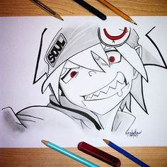 #disegno #drawing #SoulEaterEvans #Soul ❤ #SoulEater #Death #Scythe #DeathSchyte #MakaAlbarn #master #nakama