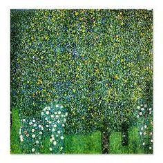 Gustav Klimt Roses Under The Tree Shower Curtain