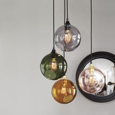 Design By Us Ballroom pendel, lille - amber