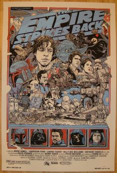 """2010 """"The Empire Strikes Back"""" - Movie Poster by Tyler Stout"""