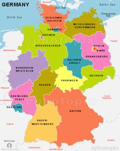 germany political map shows germanyn states with its headquarter and major cities of germany find political map of the germany explore the germany