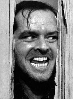 Jack Nicholson. classical movie The Shining