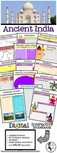 Bring technology into the middle school Social Studies classroom when teaching Ancient India! This fun INB will keep your students engaged AND organized! Source by embrott - 7th Grade Social Studies, Kindergarten Social Studies, Social Studies Notebook, Social Studies Classroom, Teaching Social Studies, World History Lessons, History Education, History Teachers, Teaching History