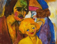 Familienbild 1947 - by Emil Nolde German Contemporary Paintings, Expressionist Artists, German Expressionist, Emil Nolde, German Expressionism, Painting, Art, Expressionist, German Art