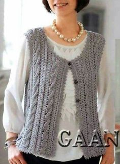 You can wear a jacket all year. Knit vest, and you will understand how it is irreplaceable. Baby Boy Knitting Patterns Free, Sweater Knitting Patterns, Knitting For Kids, Knitting For Beginners, Lace Knitting, Knitting Stitches, Knitting Designs, Cotton Crochet, Knit Crochet