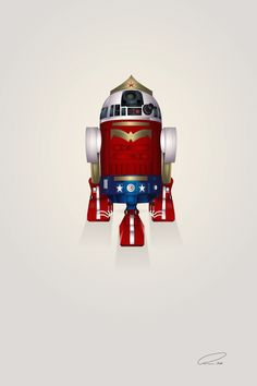 Wonder Woman R2-D2 Art Print