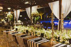 Decoração de casamento em Preto, Branco e Dourado - Casamento Real Amanda e Erick   2Wed