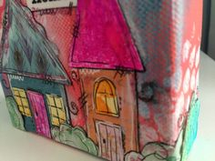 Canvas Block Mixed Media Collage with Home Sweet by GlimmerbugArt, $14.99 #HEPTEAM
