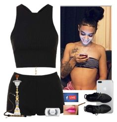 """Live n Litty ~Cecelia"" by saucinonyou999 ❤ liked on Polyvore featuring Topshop, Bling Jewelry and MAC Cosmetics"