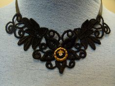 black venise lace applique necklaces with by fashionsforyourneck