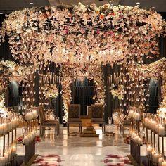 Spectacular Mandap Decor Ideas for Every Kind of Wedding ShaadiSaga Wedding Hall Decorations, Desi Wedding Decor, Wedding Mandap, Wedding Themes, Wedding Designs, Wedding Venues, Floral Wedding, Wedding Ideas, Purple Wedding