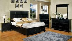 CM7690BK+Willow+Cottage+Style+Black+Finish+Queen+Bed+-+WillowCottage+StyleBlack+Finish+Queen+BedFeatures+Cottage+Style,+2+Drawers+in+Footboard,+Ball+Bearing+Rails,+Metal+Glides,+Solid+Woods+and+Veneer,+Black+Finish.+This+updated+cottage+style+bedroom+set+features+a+bed+with+extra+storage+in+the+footboard.+The+matching+case+goods+have+the+same+cottage+appeal+and+also+feature+ball+bearing+rails.
