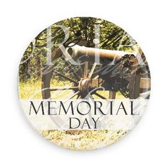 Funny Buttons - Custom Buttons - Promotional Badges - Memorial Day Holiday Pins - Wacky Buttons - Memorial day cannon