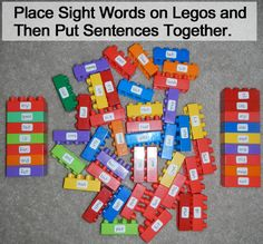 Using Legos to Learn Sight Words and How to Read and Sound Out Words - Kids Crafts & Activities - Kids Crafts & Activities Spelling Activities, Sight Word Activities, Craft Activities For Kids, Reading Activities, Kids Crafts, Sight Words, Sight Word Readers, Teaching Aids, Teaching Tools