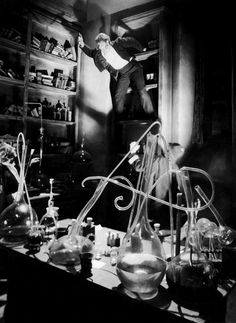 Fredric March as Mr. Hyde in Dr. Jekyll & Mr. Hyde (1931, dir. Rouben Mamoulian)  Photo by Gordon Head.