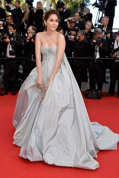 As a fairy. Araya A. Hargate on the red carpet at the Cannes Festival 2014.