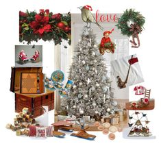 """""""love"""" by plumsandhoneyvintage ❤ liked on Polyvore featuring interior, interiors, interior design, home, home decor, interior decorating, Dollhouse, The ART Company, vintage and Christmas"""