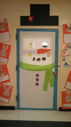 My winter classroom door