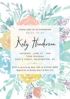 Among the Flowers Bridal Shower Invitation from Minted.