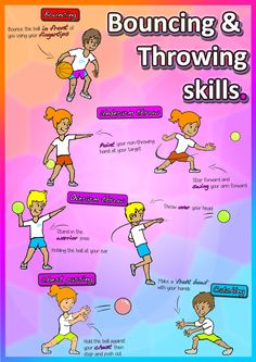 Teach bouncing, throwing and catching skills in your kindergarten PE & sport lessons! Lesson plans available from https://www.teacherspayteachers.com/Product/Kindergarten-Sport-The-Complete-PE-LESSONS-Skills-Games-Pack-grades-K-2-2648214