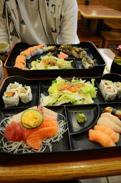 Review: Sapporo Sushi | live.love.obsess. Sapporo, Cobb Salad, Sushi, Restaurants, Live, Ethnic Recipes, Food, Meal, Eten