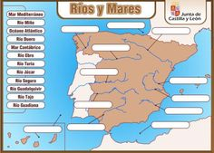 RÍOS 3 Ocean Projects, Spanish Classroom, Andalucia, Social Science, Science Activities, Science And Nature, Social Studies, Geography, Continents