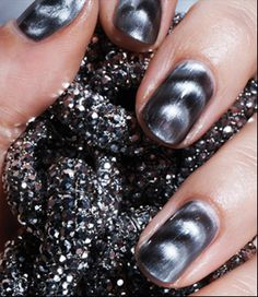 Instead of getting fake nails, I just want a manicure.but with magnetic nail polish(: Get Nails, Fancy Nails, Love Nails, How To Do Nails, Pretty Nails, Hair And Nails, The Art Of Nails, Magnetic Nail Polish, Nail Polish Art