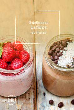 ¿Quieres conocer recetas de batidos de frutas para prepararte nada más despertarte? ☺¡Unos desayunos deliciosos con estos smoothies!  #BeBoJuicers #Smoothies #Batidos #Breakfast #BatidosdeFruta