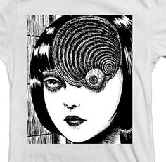 UZUMAKI EYEBALL shirt muzan-e naked city garo akira shintaro godzilla anime sci fi aeon flux animal collective suehiro maruo moebius on Etsy, $17.95