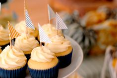 paper sailboat cupcake toppers-adorable!