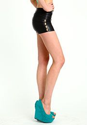 Love culture leatherette high waisted