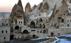 Anatolian Houses    Hotel within caves? Who would have thought. But travelers who love the mountains will fall in love with the Anatolian Cave luxury suites, built in volcanic caves in Turkey's Cappadocia region.