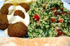 Mouthwatering Vegan Falafel. Recipe from http://mouthwateringvegan.com/2013/07/25/mouthwatering-vegan-falafel/.
