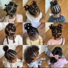 Black Baby Girl Hairstyles, Cute Toddler Hairstyles, Natural Hairstyles For Kids, Kids Braided Hairstyles, Natural Hair Styles, Little Girl Braids, Braids For Kids, Little Girls, Hairstyle Ideas