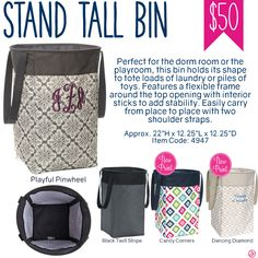 Thirty-One Stand Tall Bin - Spring/Summer 2017 Thirty One Games, Thirty One Fall, Thirty One Party, Thirty One Organization, Bag Organization, Thirty One Facebook, Sign In Sheet, Thirty One Consultant, 31 Gifts