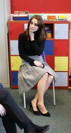 Kate wearing a Le Kilt skirt
