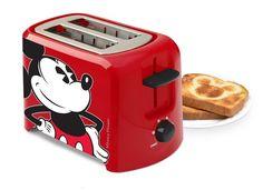 トースター ポップアップ トースター ディズニー ミッキーマウス Disney DCM-21 Mickey Mouse 2 Slice Toaster Red/Blac